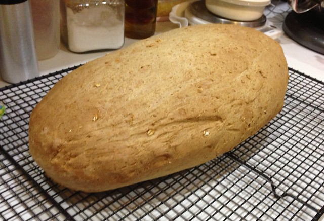 Honey oat bread loaf