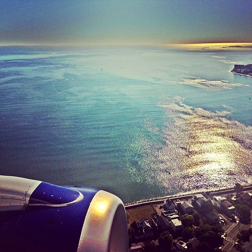 Landing in Boston.