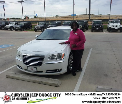 Dodge City of McKinney would like to say Congratulations to Mary Braswell on the 2011 Chrysler 300 by Dodge City McKinney Texas