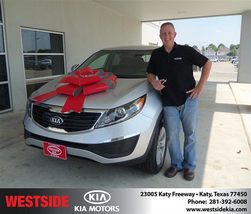 Thank you to Robert Gayhart on the 2013 Kia Sportage from Gilbert Guzman and everyone at Westside Kia! by Westside KIA