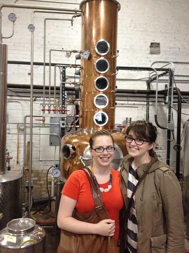 Me and Pamela at Few Spirits distillery