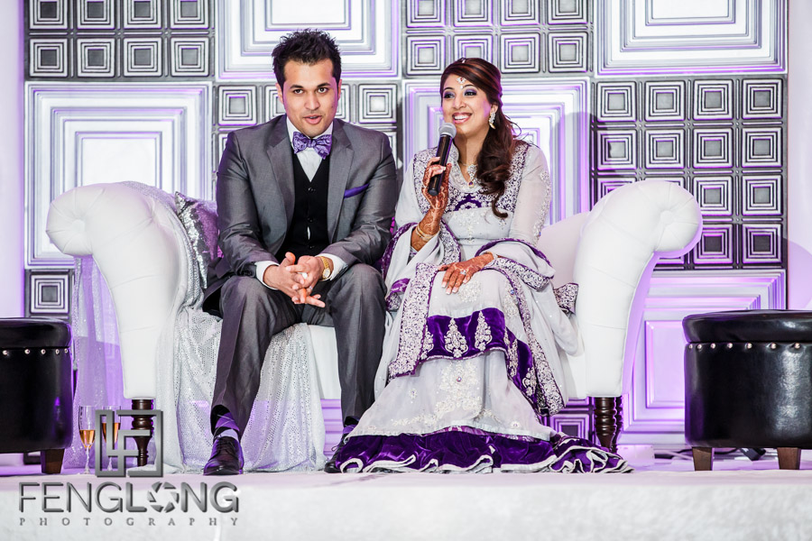 Kanwal and Ali make a speech to their guests
