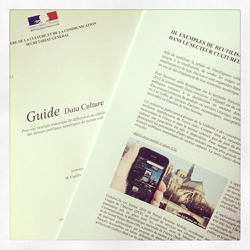 #cultureclic dans le guide #dataculture du Ministère de la culture #opendata @MinistereCC @cclic @youarehere