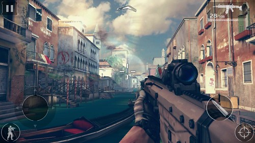 "เกม Modern Combat 5: Blackout บน True SMART 4G 5.5"" Enterprise"