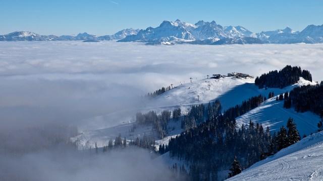 Sunny day over Tyrol