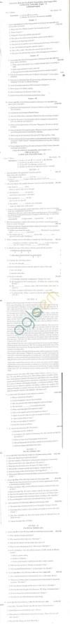 Bangalore University Question Paper July/August 2011 I Year B.A./B.Com./B.Sc./B.Com./BBM Examination - English