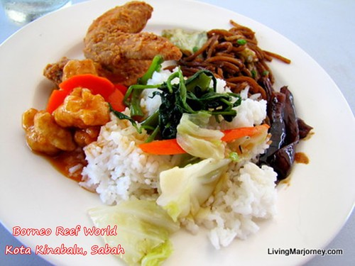 Lunch Buffet at Borneo Reef World