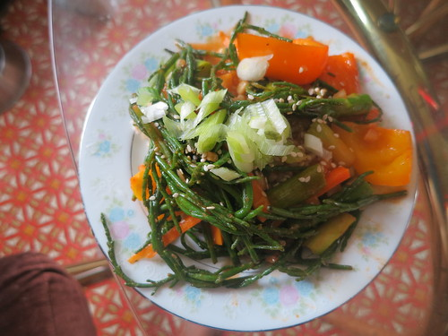 Sea asparagus stir fry