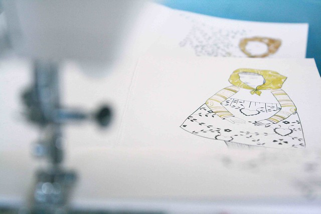 Sewing hand illustrated notebooks