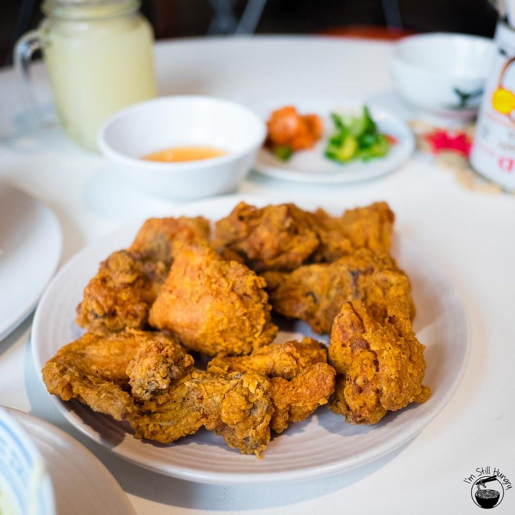 Work In Progress by Patrick Friesen Ginger ninja - fried chicken, ginger nuoc cham ($16)