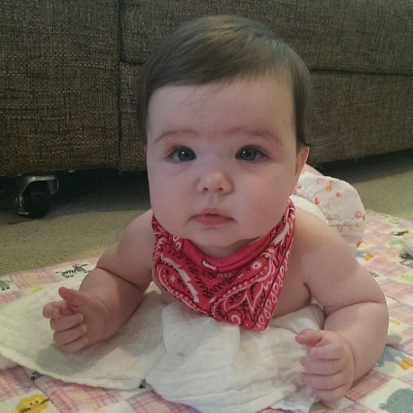 Too hot for proper clothes, just a bandana & bloomers will do
