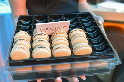 Payard Patisserie assorted macarons; black truffle macarons