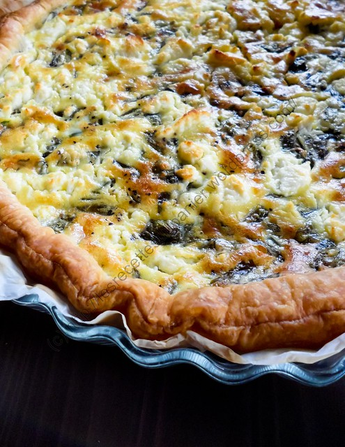 Tarte à l'oseille et à la feta / Sorrel and Greek Feta Cheese Pie