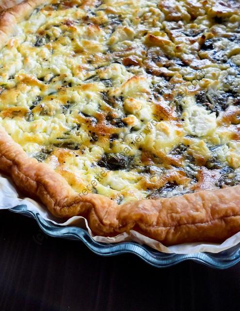 Tarte à l'oseille et à la feta / Sorrel and Greek Feta Cheese Pie