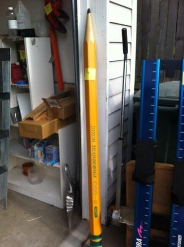 Giant pencil