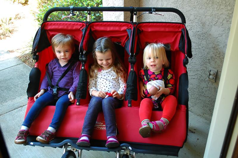 The triple stroller.