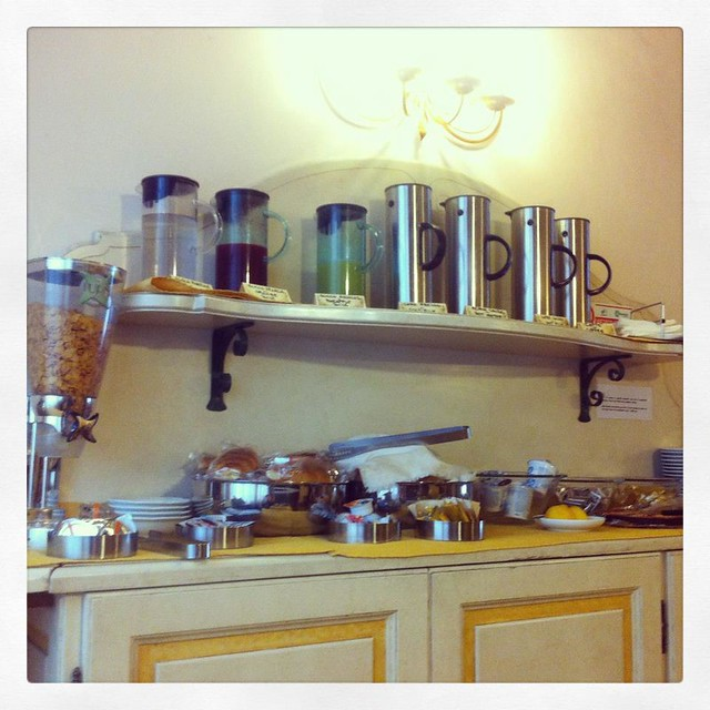 Breakfast bar at Hotel Mordeno, Pisa