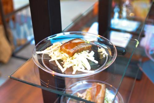Craftsteak slow cooked pork belly, napa cabbage, apple slaw