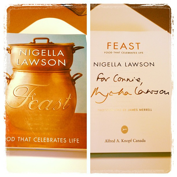 May 13 - autograph {my autographed copy of Nigella Lawson's book, Feast} #photoaday #autograph #nigellalawson #book #cookbook #feast
