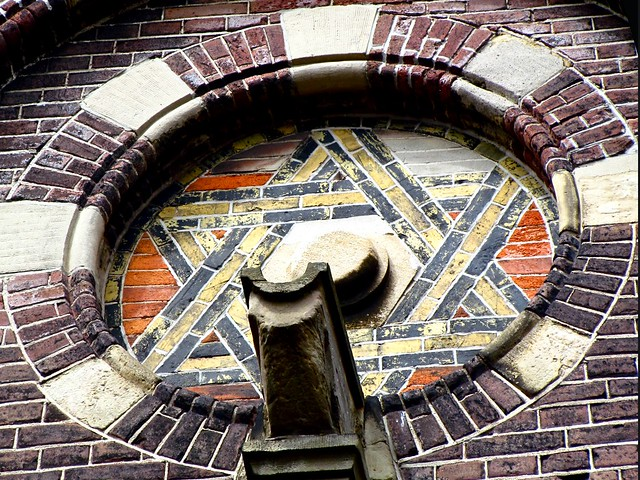 Vrijmetselaars symbool. Foto door Roel Wijnants, op Flickr.
