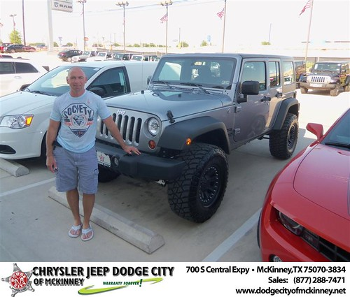 Dodge City of McKinney would like to say Congratulations to Todd Harrison on the 2013 Jeep Wrangler by Dodge City McKinney Texas