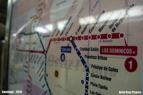 Mapa Metro de Santiago - Los Domínicos