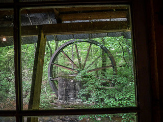 Gilreath Mill Wheel through Window