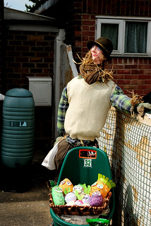 Mr Bloom scarecrow