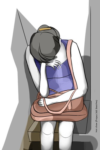 """Headache"" (#135: Project 365 Sketches)"