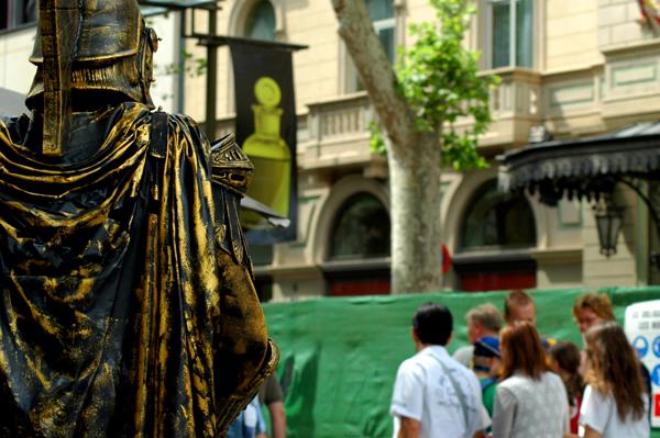 Hombre estatua
