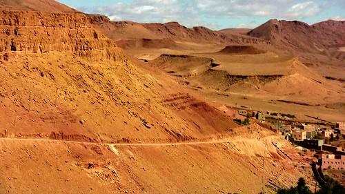 Marokko , Tineghir,  auf dem Weg zur Todra-Schlucht, 8-36
