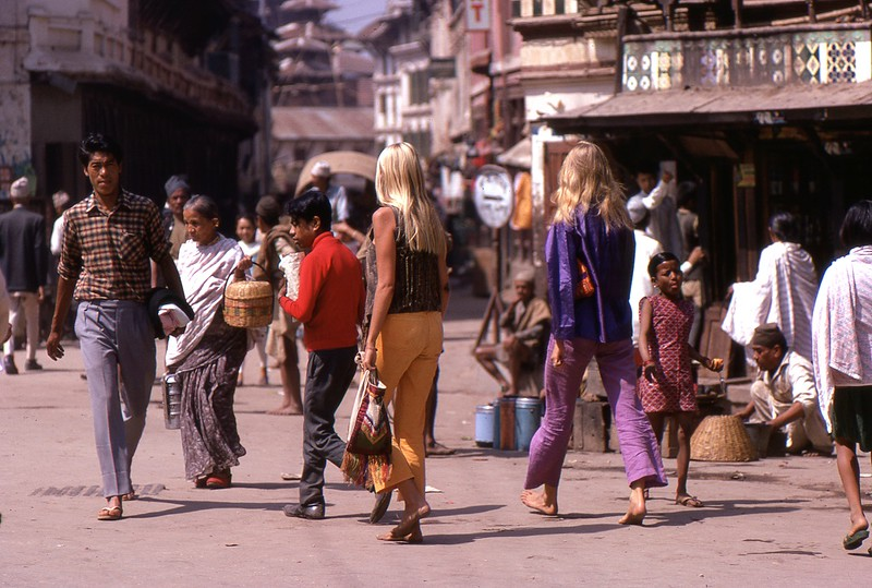 Hippie Chicks, Kathmandu, Nepal, 1969