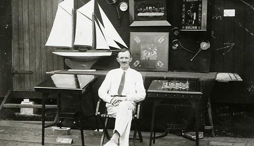 Carl Duwe in internment camp, Isle of Man, c.1917