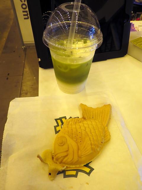 Green Tea Latte & Taiyaki