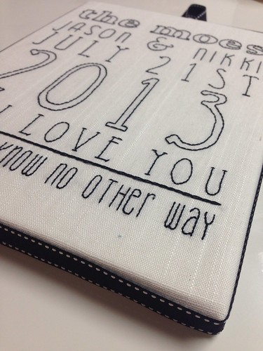 Subway style wedding announcement