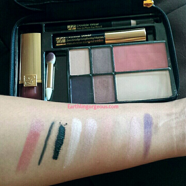 swatched estee lauder  modern chic face palette