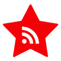 red star social media icon RSS