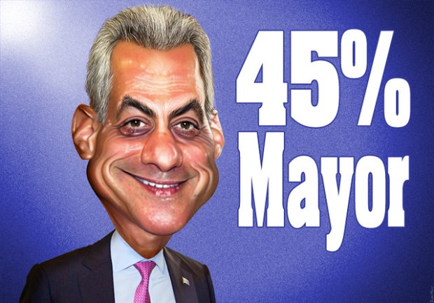 Rahm Emanuel - 45% Mayor