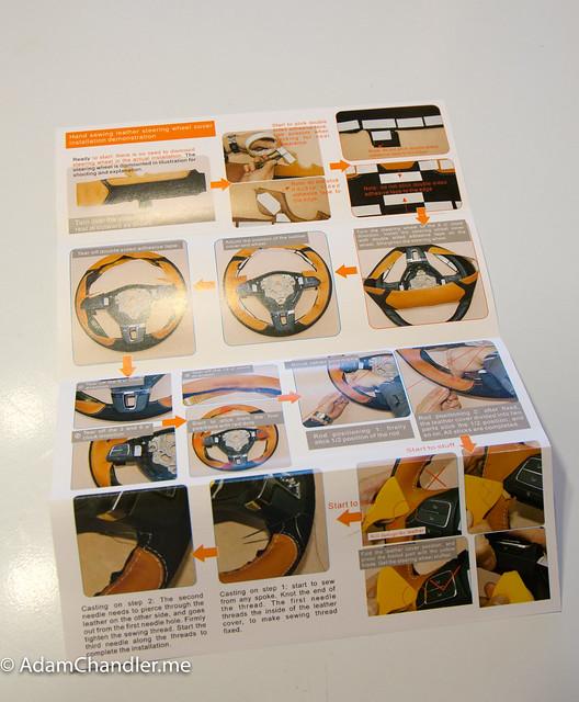 XuJi Black Suede Steering Wheel Cover for Volkswagen Golf R MK7