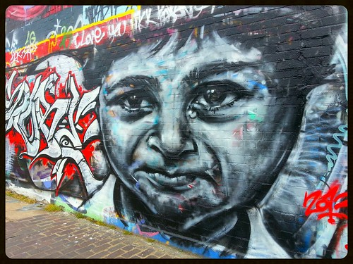 Graffiti (?), Hackney Wick, East London, England.