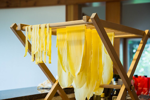handmade pasta in progress