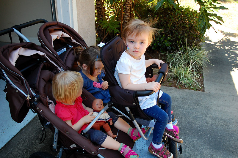 The other triple stroller.