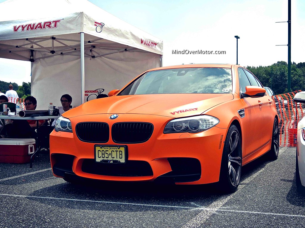 Matte Orange BMW F10 M5