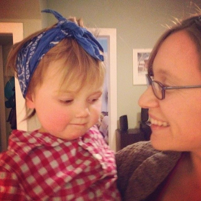 Maddy with bandana.