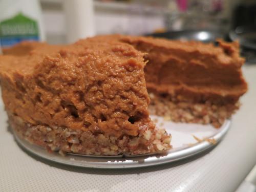 Raw pumpkin and kaya pie