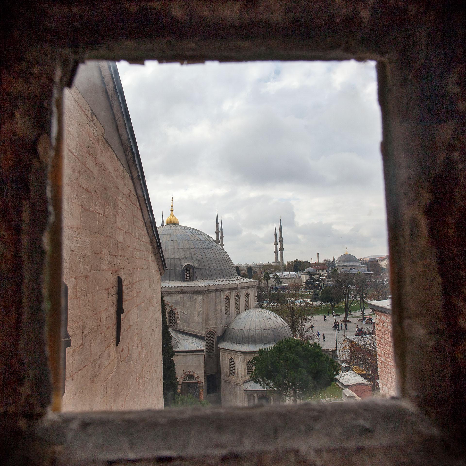 Blue Mosque from Hagia Sophia.