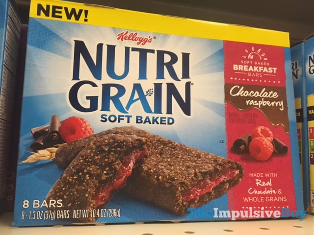 Kellogg's Nutrigrain Chocolate Raspberry Soft Baked Bars