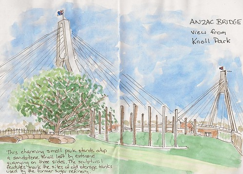 Knoll Park - Anzac Bridge by Lionel G King