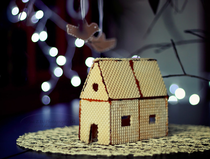 casita de oblea para Navidad, little house Christmas