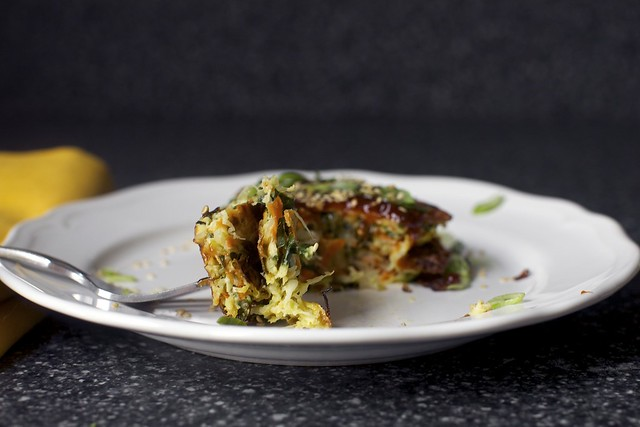 cabbage, kale and carrot fritter